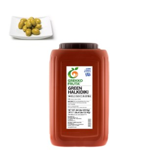 Green Halkidiki Whole Olives 26.4 lbs Giant 121-160          521300877070