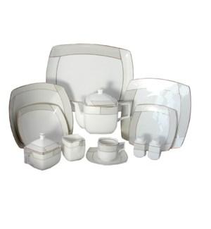 Tea Set 17pc Porcelain                                       1658