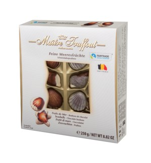 Maître Truffout Sea Shell Shaped Assorted Pralines  8.81oz 2 900285903336