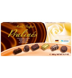 Maître Truffout Assorted pralines exquisite 400g             900285903758