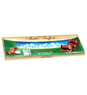 Maître Truffout Milk chocolate with hazelnut 300g            900285904265