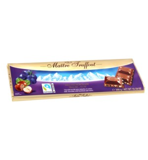 Milk chocolate raisins-hazelnuts 300g                        900285905143