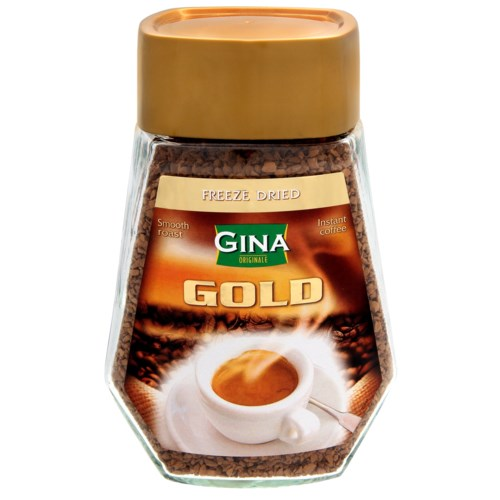 Gina Gold Instant Coffee 3.5oz 100g                          900285906039