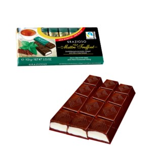 Maître Truffout Grazioso dark chocolate with mint cream fill 900285905821