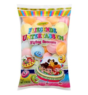Woogie Sherbert filled Flying Saucers 55g                    900285906597