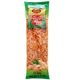 Ivanka Caramel peanut sesame bar 60g                         900285907182