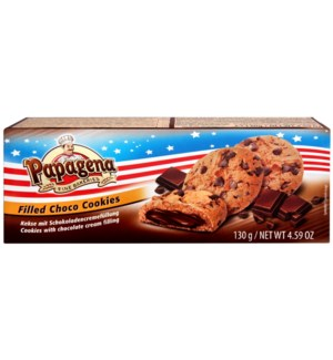 Papagena Choco Chip Cookies with chocolate cream filling 130 900285907679