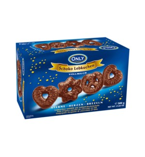Gingerbread with milk chocolate - stars-hearts-pretzels 500g 900285908039