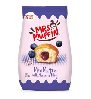 Muffins filled with Blueberry Jam (8) 200g PDQ Mrs Muffin    841103789244