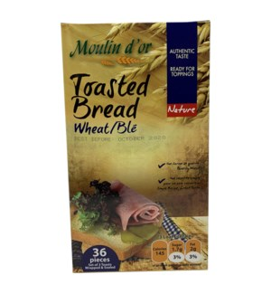 Toasted Bread Nature Wheat 420g Moulin Dor                   528500259084