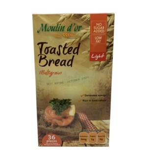Toasted Bread Multigrain Light 420g Moulin Dor               528500259086