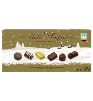 Maître Truffout Assorted Pralines 14oz 400g Winter Edition   900285909921
