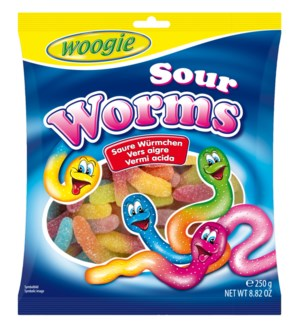 Sour Worms 250g Woogie                                       900285909999