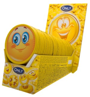 Only Emoji thaler milk chocolate 2x36x21,5g counter display  900285910033