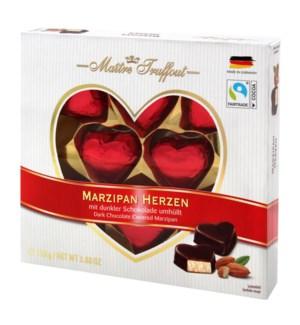 Maître Truffout Marzipan hearts 110g                         900285910582