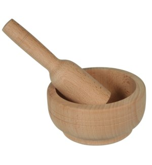 Garlic Wooden Bowl and Crusher, Crusher:6.5in, Bowl: 5.5in   643700785992