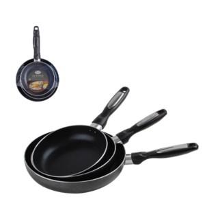 Fry Pan set 3pc Aluminum 7in, 8in, 9.5in Nonstick coating, G 643700115720