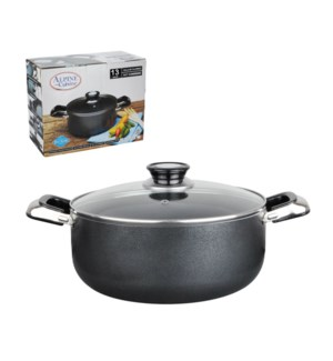 Dutch Oven Aluminum 13Qt Nonstick coating, Gray              643700020314