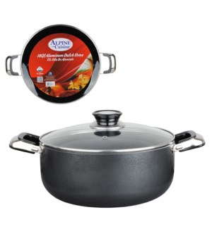 Dutch Oven Aluminum 18Qt, Nonstick coating, Gray open stock  643700181787