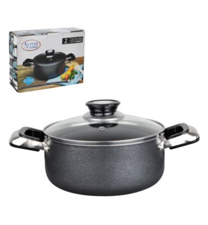 Dutch Oven Aluminum 2.2Qt Nonstick coating, Gray             643700115751