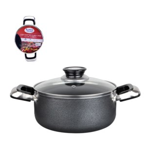 Dutch Oven Aluminum 2.2Qt Nonstick coating, Gray             643700233653