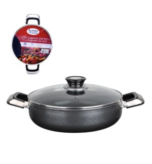 Cooking Low Pot Aluminum 2.7Qt Nonstick coating, Gray        643700279460