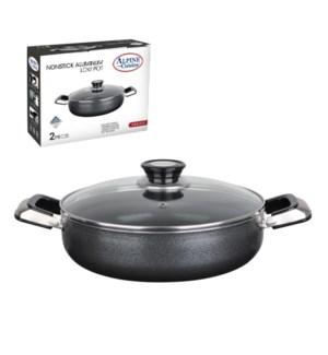 Cooking Pot Low Aluminum 4.5Qt Nonstick coating, Gray        643700020352