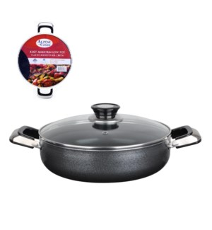 Cooking Low Pot Aluminum 4.5Qt Nonstick coating, Gray open s 643700181800