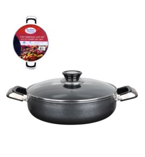 Cooking pot Low Aluminum 5.7Qt Nonstick coating, Gray open s 643700181817