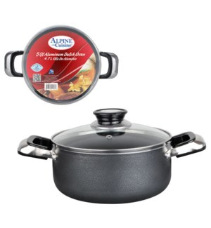 Dutch Oven Aluminum 5Qt, Nonstick coating, Gray open stock   643700115850