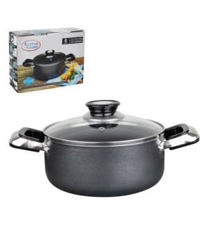 Dutch Oven 6Qt Aluminum Nonstick coating, Gray               643700020284