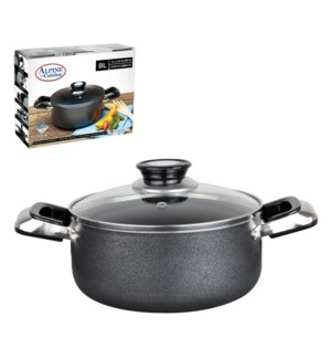 Dutch Oven 8.5Qt Aluminum Nonstick coating, Gray             643700020291