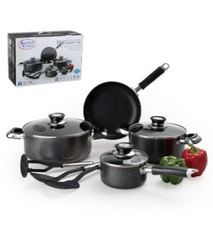 Cookware Set 10pc Aluminum Nonstick coating Gray             643700097514