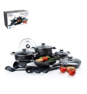 Cookware Set 16pc Aluminum Nonstick coating, with 6pc Nylon  643700146960