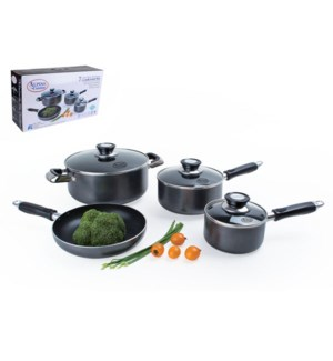 Cookware Set 7pc AluminumNonstick coating Gray               643700093578