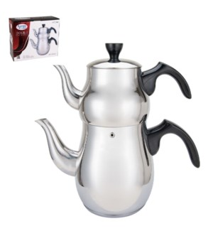 Double Tea Kettle, 1.0L and 2.5L, SS                         643700217035