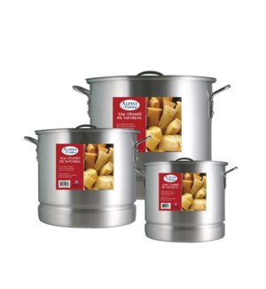 """Stock Pot 9pc Set Aluminum with Steamer 20,32,52QT""         643700340672"