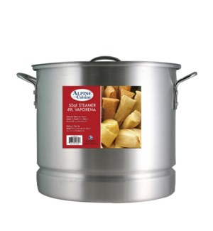 Aluminum Stock Pot 52QT with Lid, Steamer                    643700094001