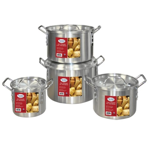 Stock Pot 8pc set Aluminum 2, 3.5, 5.5, 8Qt                  643700113986