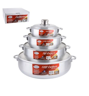 Calderos 8pc Set Aluminum 2, 3.5, 7, 13QT                    643700069283
