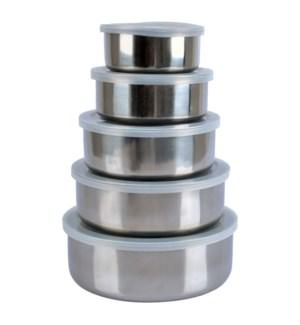 Mixing bowl 10pc set S/S w/Plastic lids                      64370020142