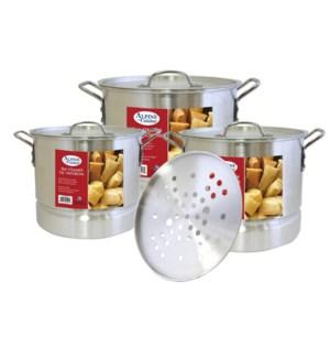 steamer Pot 9pcs Set w steamer, 8. 12. 16                    643700379160