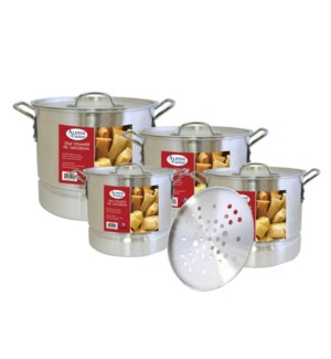 Alu. Steamer Pot 12pc Set, 8, 12, 16, 20QT                   643700063861