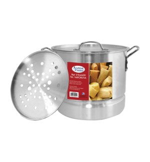 """Alu. Steamer Pot 3pc Set, 8QT""                              643700094018"