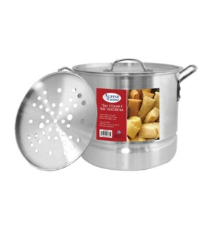 """Alu. Steamer Pot 3pc Set, 12QT""                             643700094025"