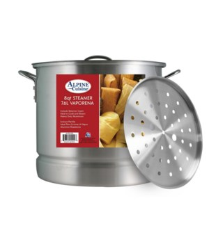 """Alu. Steamer Pot 3pc Set, 8QT""                              64370015049"