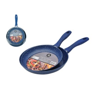 Frypan 2pc Set Carbon Steel 9.5in, 11in Nonstick Coating, So 643700225962