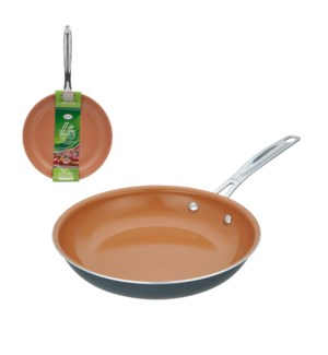 Fry pan Aluminum 11in Copper ceramic coating, SS handle      643700232793