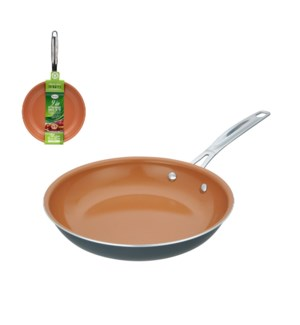 Fry pan Aluminum 9.5in Copper ceramic coating, . SS handle   643700232786