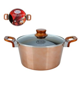 Dutch Oven Aluminum5Qt Nonstick coating, Copper Metallic, Ba 643700276292